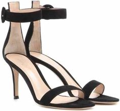 Gianvito Rossi Portofino Suede Sandals as seen on Karlie Kloss