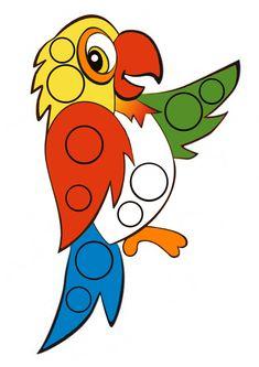 Игра с пуговицами «Попугай»