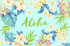 Aloha hawaii floral set by nyhoboika on Etsy