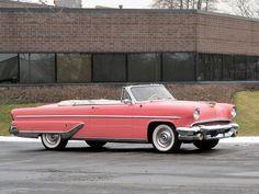 1956 Lincoln Capri Pink Convertible.