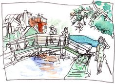 VeniceCanals080208_bridge by Shiho Nakaza Illustration, via Flickr