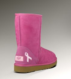 UGG® Classic Short Cancer Awareness Boot for Women|spread awareness and be cute at the same damn time!