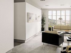 Pavimenti STON-KER® Corinto Acero 59,6x59,6 cm   Rivestimenti Artis White Matt 33,3x100 cm