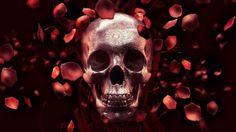 Rose Petal Skull by Billelis