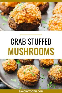 Make this for dinner: the best crab stuffed mushrooms recipe with cream cheese! Super easy and simple, and reminds me of the ones at Red Lobster, Outback, or Olive Garden. My healthy version skips panko bread crumbs so it is low carb and keto. I use real canned crab lump meat and cream cheese to stuff the mushroom caps.