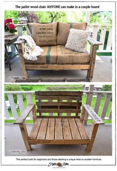 the pallet wood chair