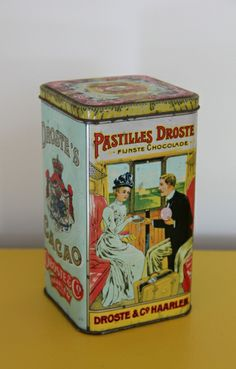 Droste oude blik Vintage Tins, Tin Boxes, Metal Box, Scouting, Jars, Decorative Boxes, Canning, Cool Stuff, Collection