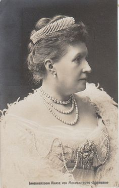 Marie also acquired a more petite diamond fringe tiara than her sister-in-law