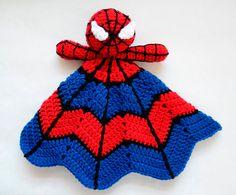 Super Hero Spider Lovey - CROCHET PATTERN instant download - crochet baby blanket pattern - baby gift crochet pattern by Crochet365KnitToo on Etsy https://www.etsy.com/listing/209313269/super-hero-spider-lovey-crochet-pattern
