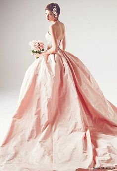 Gown by Keita Maruyama | Beautiful in blush.