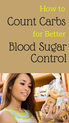 to Count Carbs for Better Blood Sugar Control Counting carbs is one of the most important ways people with type 2 manage blood-sugar levels.Counting carbs is one of the most important ways people with type 2 manage blood-sugar levels. Beat Diabetes, Gestational Diabetes, Diabetes Facts, Sugar Diabetes, Blood Glucose Levels, Blood Sugar Levels, Lower Blood Sugar, A1c Levels, Loosing Weight