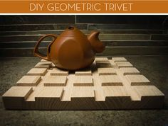 How to: Make a DIY Geometric Trivet from Scrap Wood » Curbly | DIY Design Community