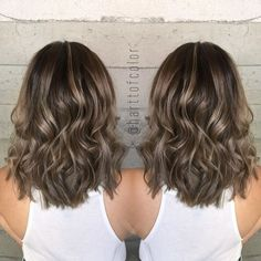 The dimension in this smokey ash balayage is unreal! #harttofcolor
