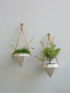 Diamond Hanging Planter  Pair by RawDezign on Etsy, £50.00