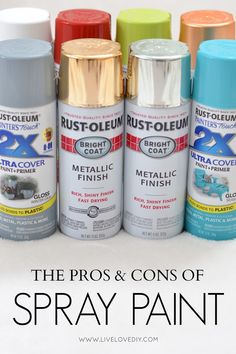 Everything you need to know about spray paint all in one place! This is SO great!