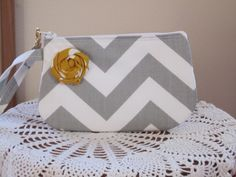 Bridal Wedding Bridesmaid Wristlet Zipper by Antiquebasketlady, $12.99