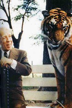 """borges  """"En la infancia yo ejercí con fervor la adoración del tigre (…) Yo solía demorarme sin fin ante una de las jaulas en el Zoológico; yo apreciaba las vastas enciclopedias y los libros de historia natural, por el esplendor de sus tigres""""."""