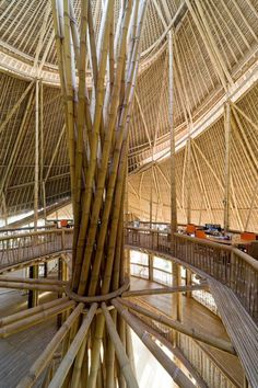 The campus is powered by a number of alternative energy sources, including a bamboo sawdust hot water and cooking system, a hydro-powered vortex generator and solar panels.