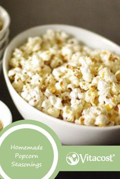 Quick & Easy Homemade Popcorn Seasonings #Popcorn #Seasoning #Vitacost #VitacostFoodie #Yum #Healthy