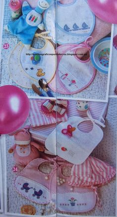 BABEROS CENEFAS CANASTILLA BEBE(38) Cross Stitch Baby, Baby Sewing, Kids, Cross Stitches, Hobby, Baby Layette, Baby Things, Embroidery Stitches, Punch Needle Patterns