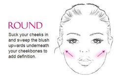 Have more of a round face? Then is how you should be applying your little round pot blush...