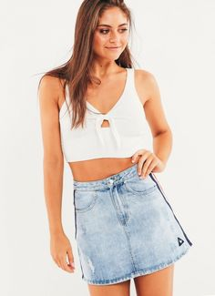 192404a6c2 ... White. Darcy Ross Norris · Peppermayo Wishlist ·  e89d5412e1e8447db5377ddb9fcb0e82.jpg Party Crop Tops, Figure It Out, Cotton  Skirt, Denim Skirts
