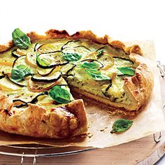 Summer Squash And Ricotta Galette...This month, we encourage eating more healthy fats. Here's a fantastic crust that you can swap in for a standard butter-based one. You can make the dough in advance, and chill until ready to use.