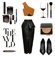 """Untitled #566"" by tenindvr ❤ liked on Polyvore featuring Maticevski, Rosetta Getty, Yves Saint Laurent, Estée Lauder, Victoria Beckham and Riedel"
