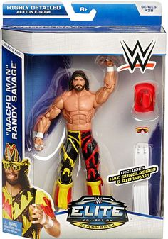 WWE Wrestling Elite Series 38 Macho Man Randy Savage Action Figure Rare wwe nwo roh ecw Superstars by TheWrestlingBurn on Etsy