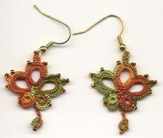 Carol's Little Treasures - A Tatting Blog ~ I really want these maple leaf earrings!
