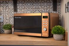 Russell Hobbs RHMD804CP Copper Digital Microwave, Steel/Plastic/Glass: Amazon.co.uk: Kitchen & Home Russell Hobbs, Side Coffee Table, Safe Glass, Child Safety Locks, Copper Material, Digital Clocks, Mirror Door, Microwave Oven