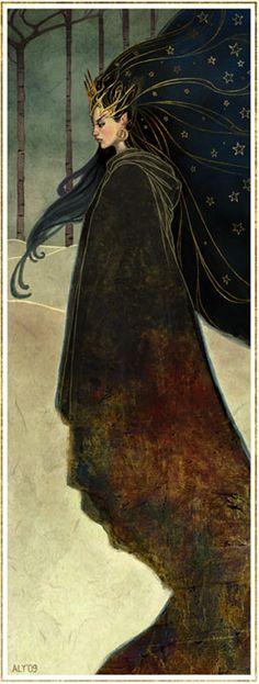 Grim and Fairy dark sorceress or witch , fantasy , children's book illustration art perfect inspiration for the season of Samhain Art And Illustration, Fairy Tale Illustrations, Art Noir, Alphonse Mucha, Gods And Goddesses, Art Plastique, Faeries, Dark Art, Art Inspo