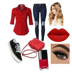 """""""Untitled #39"""" by nooraalsaimari on Polyvore featuring LE3NO, Vans, ASOS and Chanel"""