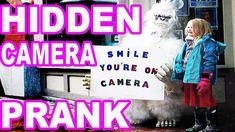 Yeti Scare Prank In real Life – Smile You're on Camera Work Pranks, Evil Twin, Hidden Camera, Funny Pranks, Real Life, Smile, Humor, Tv, Funny Jokes