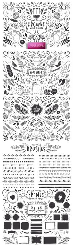 The Hand Illustrated Typekit | SALE by Callie Hegstrom on @creativemarket