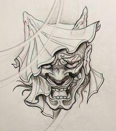 "576 Me gusta, 4 comentarios - Jason Lau (@jasonlau_tattoo) en Instagram: ""Veiled hannya concept. . . . . #hannya #hannyamask #oni #demon #irezumicollective #irezumi…"""