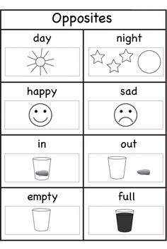 Worksheets for 4 year olds opposites opposites worksheet, opposites preschool, kindergarten english worksheets, Printable Preschool Worksheets, Free Kindergarten Worksheets, Free Preschool, Preschool Learning, Math Worksheets, In Kindergarten, Preschool Activities, Educational Activities, Activities For 4 Year Olds