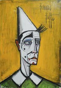 Bernard BUFFET - Le clown Blanc