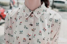printed button-up