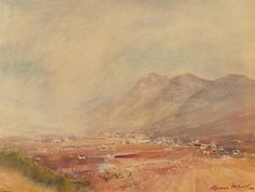 For Sale on - Terence John McCaw - Signed 1974 Watercolour, South African Mountain, Watercolor by Terence John McCaw. Offered by Sulis Fine Art. Landscape Drawings, Landscape Paintings, Watercolour, Watercolor Paintings, Tiny Farm, South African Art, Artist Biography, Paul Cezanne, London Art