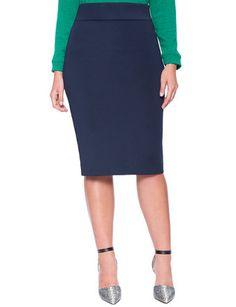 d1f4d308ab426 Neoprene Column Skirt from eloquii.com Plus Size Pencil Skirt