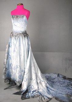 tim burton wedding ideas   Tim Burton Corpse Bride Wedding Zombie Dress Gown Costume Emily ...