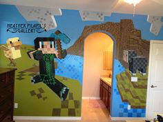 Minecraft mural by Heather Pilapil