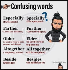 some confusing words English Learning Spoken, Learn English Grammar, Learn English Words, English Phrases, English Language Learning, Teaching English, Teaching Grammar, Teaching Spanish, Spanish Language
