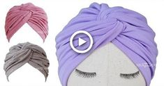 babygirl hats Twisted Turban Hat Sewing Pattern - Turban Hat DIY Bracelet a Fashion Statement F Turban Headband Tutorial, Baby Turban Headband, Turban Hut, Head Turban, How To Make Turban, Hat Patterns To Sew, Pattern Sewing, Sewing Headbands, Diy Hat