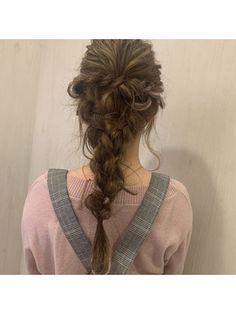 編みおろしアレンジ Dreadlocks, Hair Styles, Beauty, Hair Plait Styles, Hair Makeup, Hairdos, Haircut Styles, Dreads, Hair Cuts