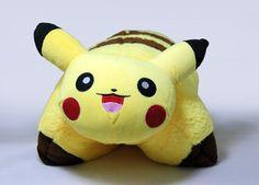 Cuddle Pet Pokemon Pikachu Plush Doll Transforming Pillow Nap Sleep Car Cushion | eBay