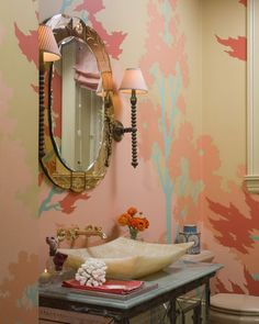 perfect pink powder room