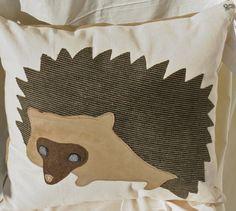 Hedgehog  throw pillow by georgiamars on Etsy, $40.00