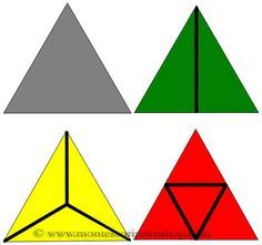 Constructive Triangles Triangular Box - 10 Triangles & Control Cards for the Triangular Box. Includes black & white outlines and Control Charts.